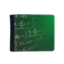 Calculus Mathematical Formulas Science Painted Stick Figure Flip Bifold Faux Leather Wallet  Multi-Function Card Purse Gift