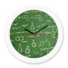 Organic Chemistry Experimental Molecular Atomic Structure Illustration Silent Non-ticking Round Wall Decorative Clock Battery-operated Clocks Gift Home Decal