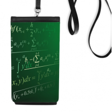 Calculus Mathematical Formulas Science Painted Stick Figure Faux Leather Smartphone Hanging Purse Black Phone Wallet Gift