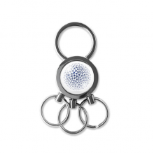 Abstract Atomic Structure Physical Three-dimensional Illustration Metal Key Chain Ring Car Keychain Creative Trinket Keyring Novelty Item Best Charm Gift