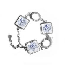 Abstract Atomic Structure Physical Three-dimensional Illustration Square Shape Metal Bracelet Love Gifts Jewelry With Chain Decoration