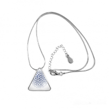 Abstract Atomic Structure Physical Three-dimensional Illustration Triangle Shape Pendant Necklace Jewelry With Chain Decoration Gift