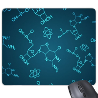 Blue Chemical Molecular Structure Illustration Mouse Pad Non-Slip Rubber Mousepad Game Office
