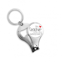 Teacher's Day I'm a Teacher What's your Superpower Nail Clipper Ring Key Chain