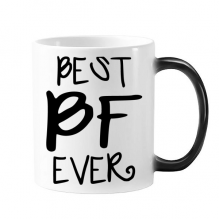 Best BF Ever Valentine's Day Quotes for Boyfriend Love Morphing Heat Sensitive Changing Color Mug Cup Gift Milk Coffee With Handles 350 ml