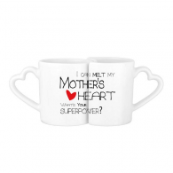 I Can Melt My Mother's Heart Best Mom Love Lovers' Mug Lover Mugs Set White Pottery Ceramic Cup Gift Milk Coffee Cup with Handles