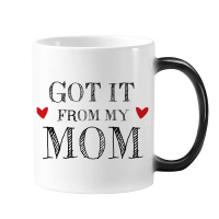 Got It From My Mom Children Mother Present Morphing Heat Sensitive Changing Color Mug Cup Gift Milk Coffee With Handles 350 ml