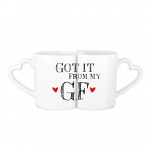 For BF Got It From My GF Boyfriend Valentine's Day Present Lovers' Mug Lover Mugs Set White Pottery Ceramic Cup Gift Milk Coffee Cup with Handles