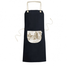 Florence Cathedral Italy Florence Landmark Pattern Cooking Kitchen Black Bib Aprons With Pocket for Women Men Chef Gifts