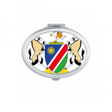 The Republic of Namibia Flag National Emblem Africa Country Oval Compact Makeup Pocket Mirror Portable Cute Small Hand Mirrors Gift