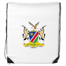 The Republic of Namibia Flag National Emblem Africa Country Drawstring Backpack Shopping Sports Bags Gift