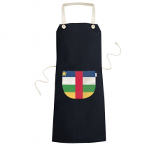Central African Republic National Flag Africa Country Symbol Mark Pattern Cooking Kitchen Black Bib Aprons With Pocket for Women Men Chef Gifts