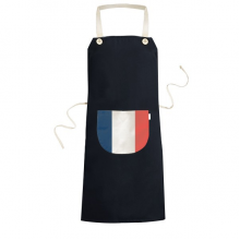 France National Flag Europe Country Symbol Mark Pattern Cooking Kitchen Black Bib Aprons With Pocket for Women Men Chef Gifts