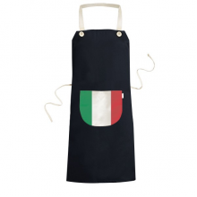 Italy National Flag Europe Country Symbol Mark Pattern Cooking Kitchen Black Bib Aprons With Pocket for Women Men Chef Gifts