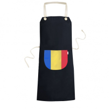 Romania National Flag Europe Country Symbol Mark Pattern Cooking Kitchen Black Bib Aprons With Pocket for Women Men Chef Gifts