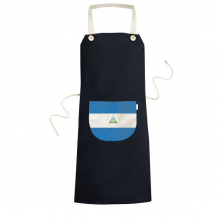 Nicaragua National Flag North America Country Symbol Mark Pattern Cooking Kitchen Black Bib Aprons With Pocket for Women Men Chef Gifts
