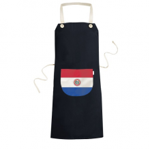 Paraguay National Flag South America Country Symbol Mark Pattern Cooking Kitchen Black Bib Aprons With Pocket for Women Men Chef Gifts