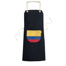 Colombia National Flag South America Country Symbol Mark Pattern Cooking Kitchen Black Bib Aprons With Pocket for Women Men Chef Gifts