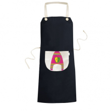 A Alphabet Apple Fruit Cute Interesting Funny Illustration Pattern Cooking Kitchen Black Bib Aprons With Pocket for Women Men Chef Gifts