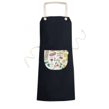 Italy LandscapeThe Leaning Tower of Pisa National Flag Resident Diet Illustration Pattern Cooking Kitchen Black Bib Aprons With Pocket for Women Men Chef Gifts