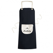 Abstract Flower Black And White Happy Birthday Gifts Presents Letters Blessing Beautiful Best Wishes Cooking Kitchen Black Bib Aprons With Pocket for Women Men Chef Gifts