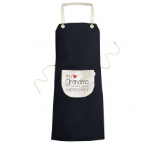 I'm a Grandma What's your Superpower Best Granny Cooking Kitchen Black Bib Aprons With Pocket for Women Men Chef Gifts