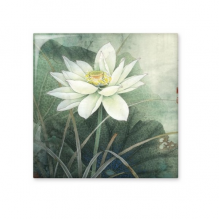 Green Lotus White Lotus Bud Leaf China Classical Painting Ceramic Bisque Tiles for Decorating Bathroom Decor Kitchen Ceramic Tiles Wall Tiles