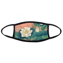 White Lotus Bud Green Blue Lotus Red Sunset Leaf China Classical Painting Face Anti-dust Mask Anti Cold Maske Gift