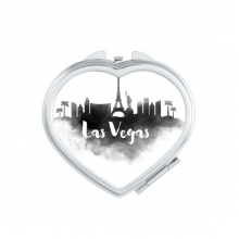 Las Vegas America Ink City Heart Compact Makeup Pocket Mirror Portable Cute Small Hand Mirrors Gift