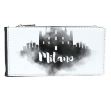Milano Italy Ink City Multi-Card Faux Leather Rectangle Wallet Card Purse Gift