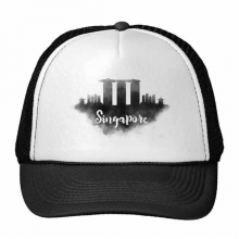 Singapore Ink City Trucker Hat Baseball Cap Nylon Mesh Hat Cool Children Hat Adjustable Cap Gift