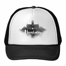 Hamburg Germany Ink City Trucker Hat Baseball Cap Nylon Mesh Hat Cool Children Hat Adjustable Cap Gift