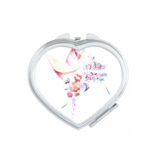 Carousel Windmill Lollipop Watercolor Painting Heart Compact Makeup Pocket Mirror Portable Cute Small Hand Mirrors Gift