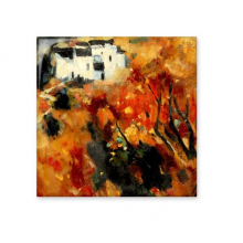 Autumn Village Pastoral Realism Oil Schools Of Impression Painting Ceramic Bisque Tiles for Decorating Bathroom Decor Kitchen Ceramic Tiles Wall Tiles