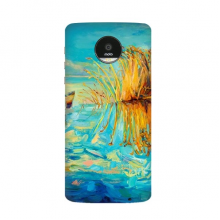 Lake Boat Landscape Oil Painting Motorola Moto Z / Z Force / Z2 Force Droid Magnetic Mods Phonecase Style Mod Gift