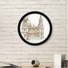St.Paul's Cathedral Britain England London Iandmark Pattern Round Simple Picture Frame Art Prints of Paintings Home Wall Decal