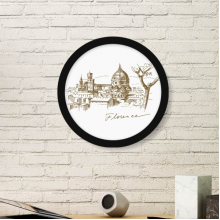 Florence Cathedral Italy Florence Landmark Pattern Round Simple Picture Frame Art Prints of Paintings Home Wall Decal