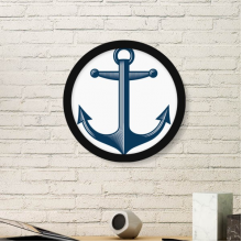 Anchor Droits Of Admiralty Blue Military Ocean Army Illustration Round Simple Picture Frame Art Prints of Paintings Home Wall Decal
