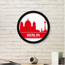 Berlin Germany Red Landmark Pattern Round Simple Picture Frame Art Prints of Paintings Home Wall Decal