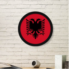 Albania National Flag Europe Country Symbol Mark Pattern Round Simple Picture Frame Art Prints of Paintings Home Wall Decal