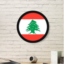 Lebanon National Flag Asia Country Symbol Mark Pattern Round Simple Picture Frame Art Prints of Paintings Home Wall Decal