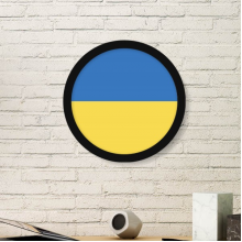 Ukraine National Flag Europe Country Symbol Mark Pattern Round Simple Picture Frame Art Prints of Paintings Home Wall Decal