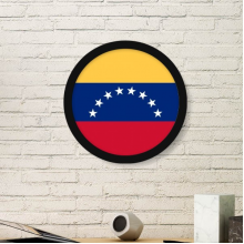 Venezuela National Flag South America Country Symbol Mark Pattern Round Simple Picture Frame Art Prints of Paintings Home Wall Decal
