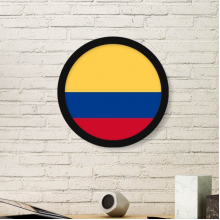 Colombia National Flag South America Country Symbol Mark Pattern Round Simple Picture Frame Art Prints of Paintings Home Wall Decal