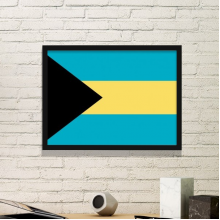 The Bahamas National Flag North America Country Symbol Mark Pattern Simple Picture Frame Art Prints of Paintings Home Wall Decal