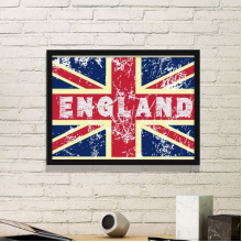 UK England the Union Jack Flag Mark Illustration Pattern Simple Picture Frame Art Prints of Paintings Home Wall Decal