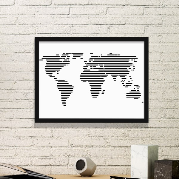 2600 simple black white line world map illustration pattern simple picture frame art prints of paintings home wall decal diythinker simple black white line world map illustration pattern simple picture frame art prints of paintings home wall decal gumiabr Choice Image