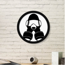 The Special Arms Gas Head Counter Strike Outline Pattern Round Simple Picture Frame Art Prints of Paintings Home Wall Decal