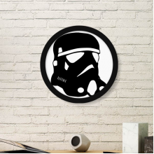 Gas Head Outline Pattern Round Simple Picture Frame Art Prints of Paintings Home Wall Decal