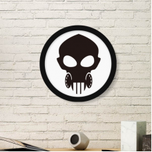 Biochemical Weapon Defense Gas Head Outline Pattern Round Simple Picture Frame Art Prints of Paintings Home Wall Decal